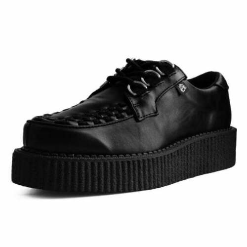 Shoes Black Faux Leather 3 Ring Anarchic Creeper From T.U.K