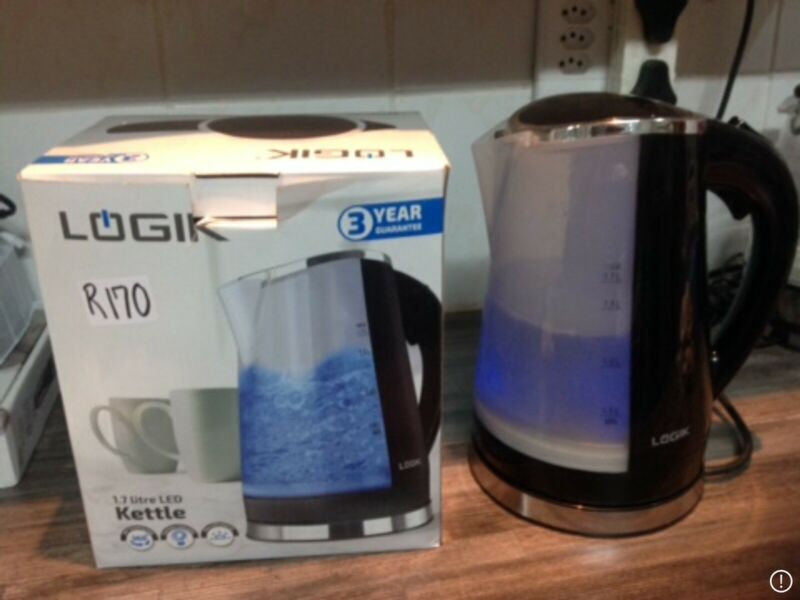 LOGIK KETTLES. BLACK AND WHITE. R170 @. Please phone 0714437462