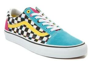 Details about VANS OLD SKOOL CRAZY CHECK MULTICOLOR 5.5--11 CHEX patchwork  slip on yacht club