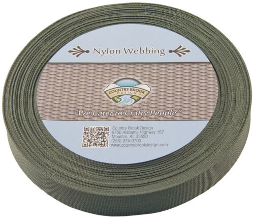 1 Inch Olive Drab Green Lite Weight Nylon Webbing 100 Yards