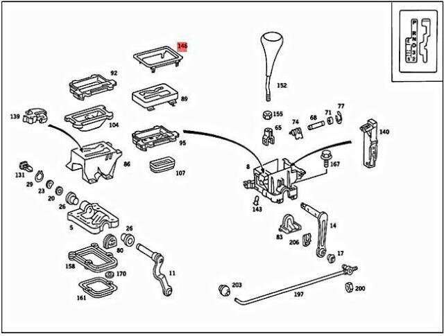 Boite de vitesses joint set pour mercedes W126 420 85-87 4.1 essence M116 febi