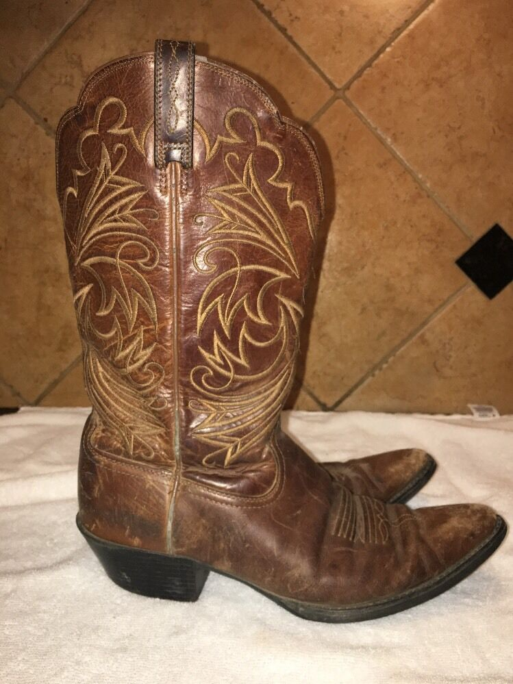 Ariat Brown Leather Men's Cowboy Western Boots Size 9.5 D