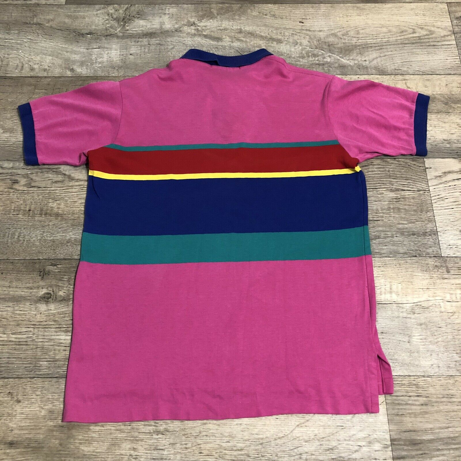 Vtg Ralph Lauren Polo Pink Striped Cotton Short S… - image 2