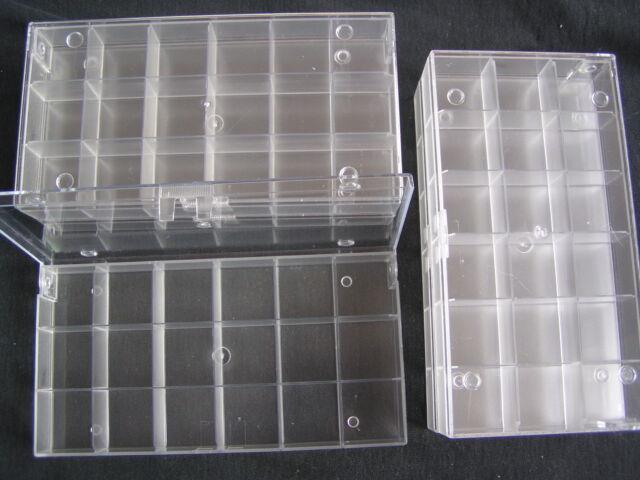 5 Stück Sortimentskisten, Sammelboxen, 18-er transparent