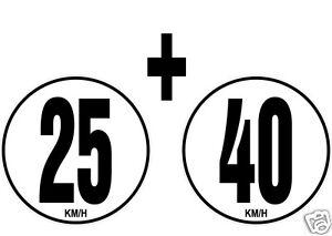 lot-2-Limitations-de-Vitesse-Autocars-Tracteur-Poids-lourd-25-40-KM-H-adhesif
