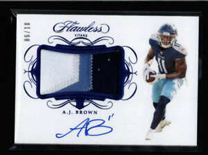 A-J-BROWN-2019-PANINI-FLAWLESS-BLUE-ROOKIE-PATCH-AUTOGRAPH-AUTO-06-10-FC1614