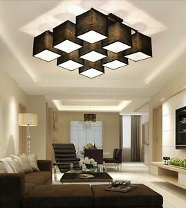 Modern Square Pendant Light Ceiling Lamp Sitting Room Bar