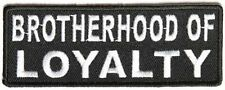 Brotherhood of Loyalty MC Club Motorcycle Embroidered Biker Vest Patch PAT-3824