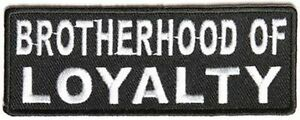 Brotherhood-of-Loyalty-MC-Club-Motorcycle-Embroidered-Biker-Vest-Patch-PAT-3824