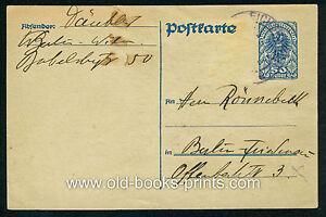 THEODOR DÄUBLER - eigenhändige Postkarte um 1920 - Original!!