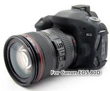 Silicone Armor Skin Case Camera Cover Protector Bag For Canon EOS 80D Black