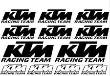12 Sticker SET KTM Racing Team Aufkleber Motor Bike Tuning Naked