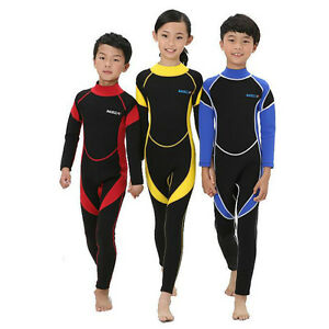 Kids-2-5MM-Neoprene-Scuba-Diving-Wet-Suit-Children-Long-Sleeve-Surfing-Swimwear