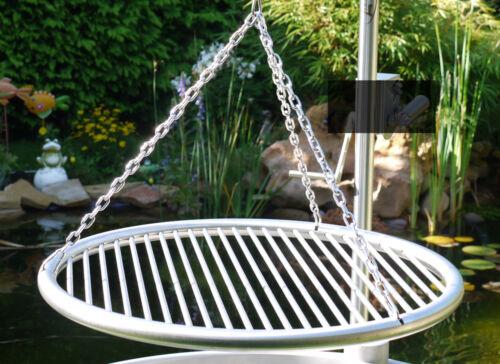 Edelstahl Grillrost 70 cm einzeln entnehmbare Stäbe 8 mm Dreibein Schwenkgrill