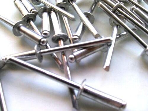 x50 5//32 x 3//8 Grip Blind Rivet Aluminum Pop Rivets 5-6
