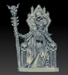 Lord Brujo en trono 32mm HEROQUEST FAN MADE NUEVO!!!