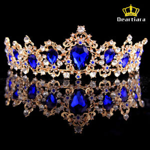 Deartiara-Crystal-Gem-Gold-Princess-Tiara-Wedding-Bridal-Crown-Headbands