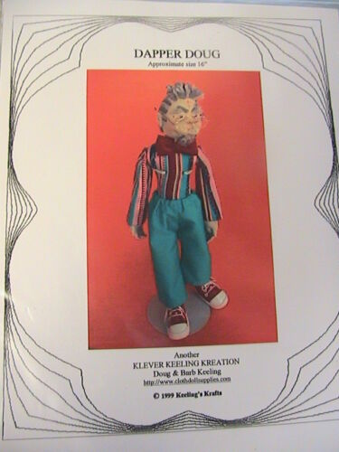 """BEWITCHED~BARB /& DOUG KEELING~16/"""" whimsical WITCH cloth art doll pattern"""