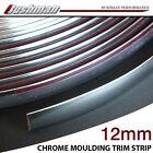 Silver Car Caravan Chrome Moulding Trim Strip Door Bumper Decoration 20m x 12mm