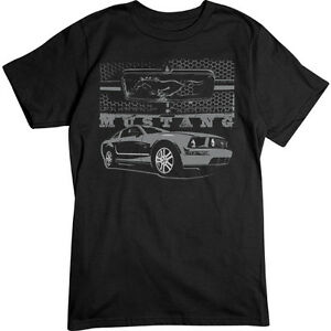 Mustang-With-Grill-T-Shirt-Ford-Tee-Shirt