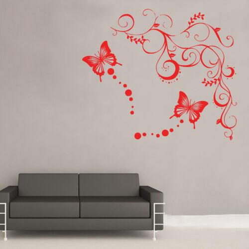 Butterfly Corner Wall Art Sticker Art Vintage Shabby Chic Room BB15