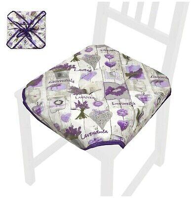 Cuscino copri sedia universale cucina cotone alette lacci trapuntato shabby chic | eBay