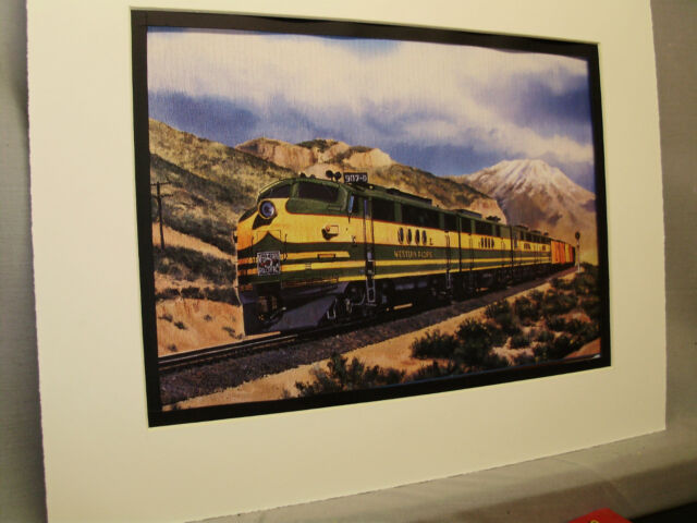 Western Pacific At Silver Zone Pass Artist Illustrated Railroad Archives SS