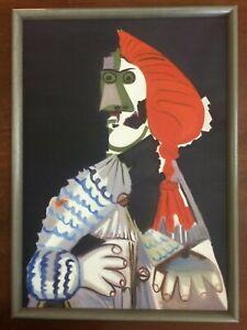 Picasso-olio-su-tela-anno-2017-cm-50x70-cornice-compresa-Falso-d-039-autore