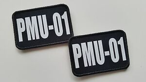 AIRSOFT-MILITARY-ONE-PAIR-OF-CAMOUFLAGE-CALL-SIGN-PATCHES-CUSTOM-MADE-X-2