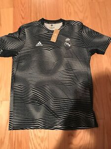 Details about Adidas Soccer Real Madrid Pre Match Training Jersey Size L DP2920 Top