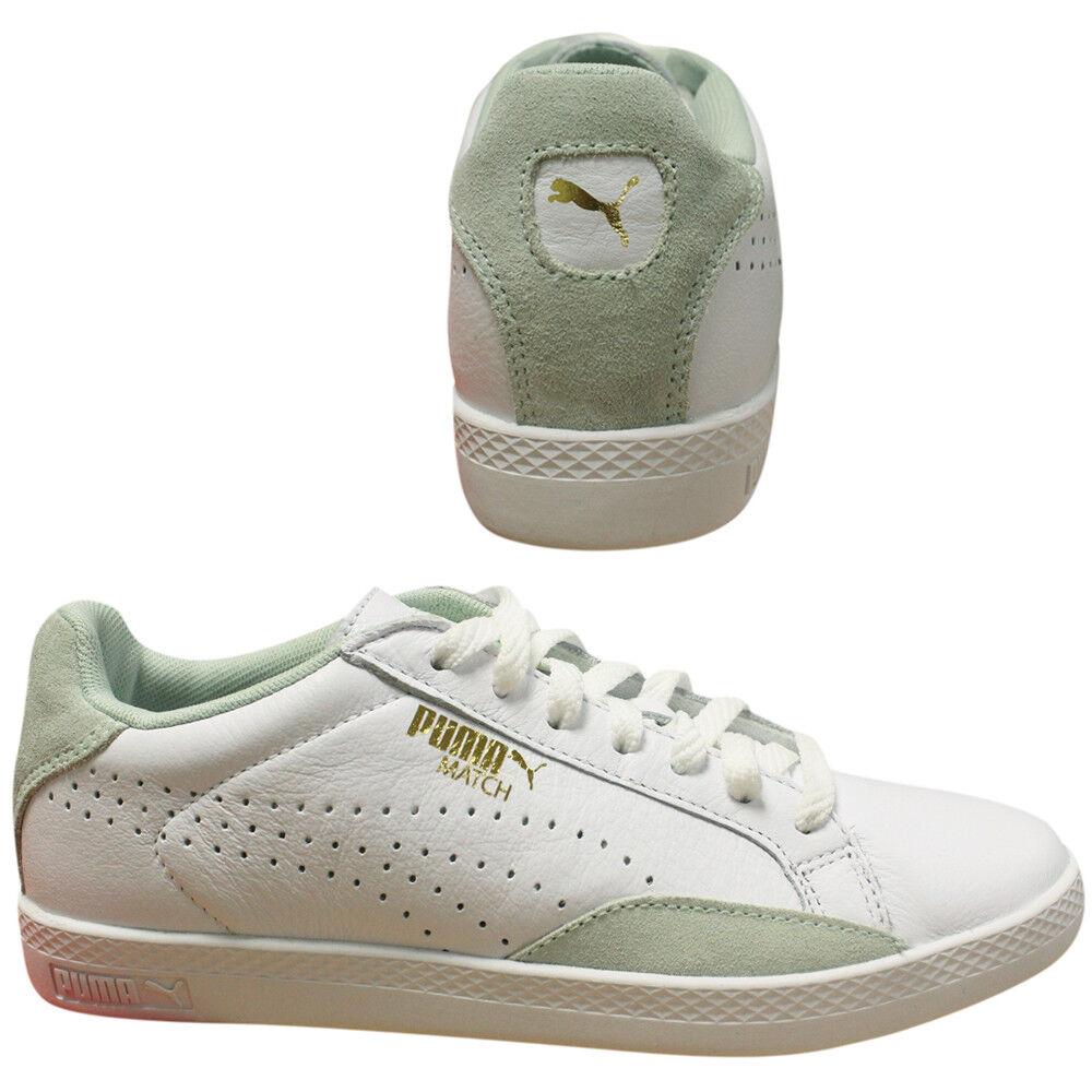 Puma Match lo Basic Sport Bianco green women con Lacci