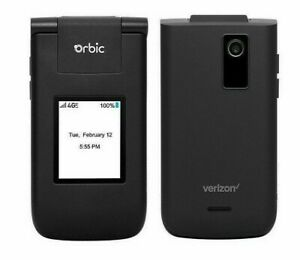 Orbic Journey V (Black) - Verizon Basic Flip Phone - MINT