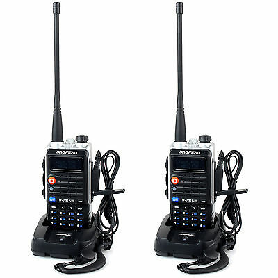 2 Pcs 8W 4800mAh Li-ion Battery Baofeng Dual Band Two Way Radio BF-UVB2 Plus