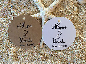 10 Kraft Brown Gift Tags Wedding Favour Personalised With Love From