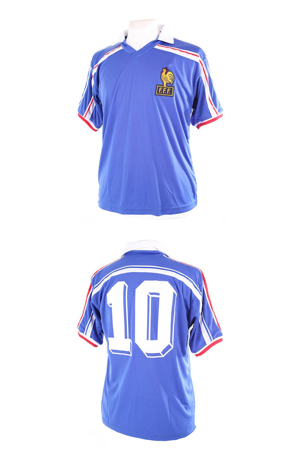 FRANCE RETRO 1986 WORLD CUP PLATINI 10 FOOTBALL SHIRT MAILLOT XL NEW EURO 2016