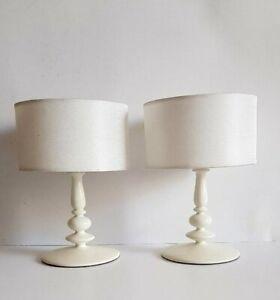 Vintage pair Habitat Tea Light Candle Holder Miniature Standard White Table Lamp