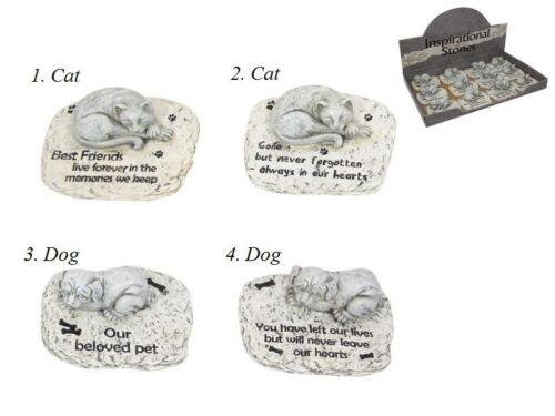 10cm Pet Memorial Garden RIP Stone for your Beloved Cat or Dog
