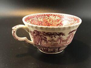 Mason's Vista Red White Transferware Tea Coffee Cup England Crown Logo No Saucer