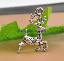 Wholesale 30 PCS Tibetan silver charms animal figure necklace pendant