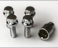 M12 x 1.5 BMW 6 Series E63//64 03-10 TPI Black Locking Wheel Bolt//Nut Set