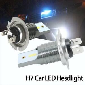 55W-GSP-Seoul-Chip-BulbsH7-LED-Headlight-Car-Driving-Lamps-Silver-UK