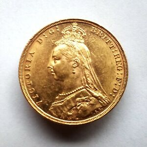 Rare. Queen Victoria Jubilee Sovereign 1893M Melbourne. Gold 7.98 grams 22.05 mm