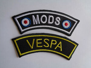 Vespa Scooter Shoulder Patch Embroidered Patch Iron Sew On Mod Patches