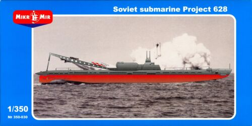 MikroMir Models 1//350 SOVIET SUBMARINE PROJECT 628