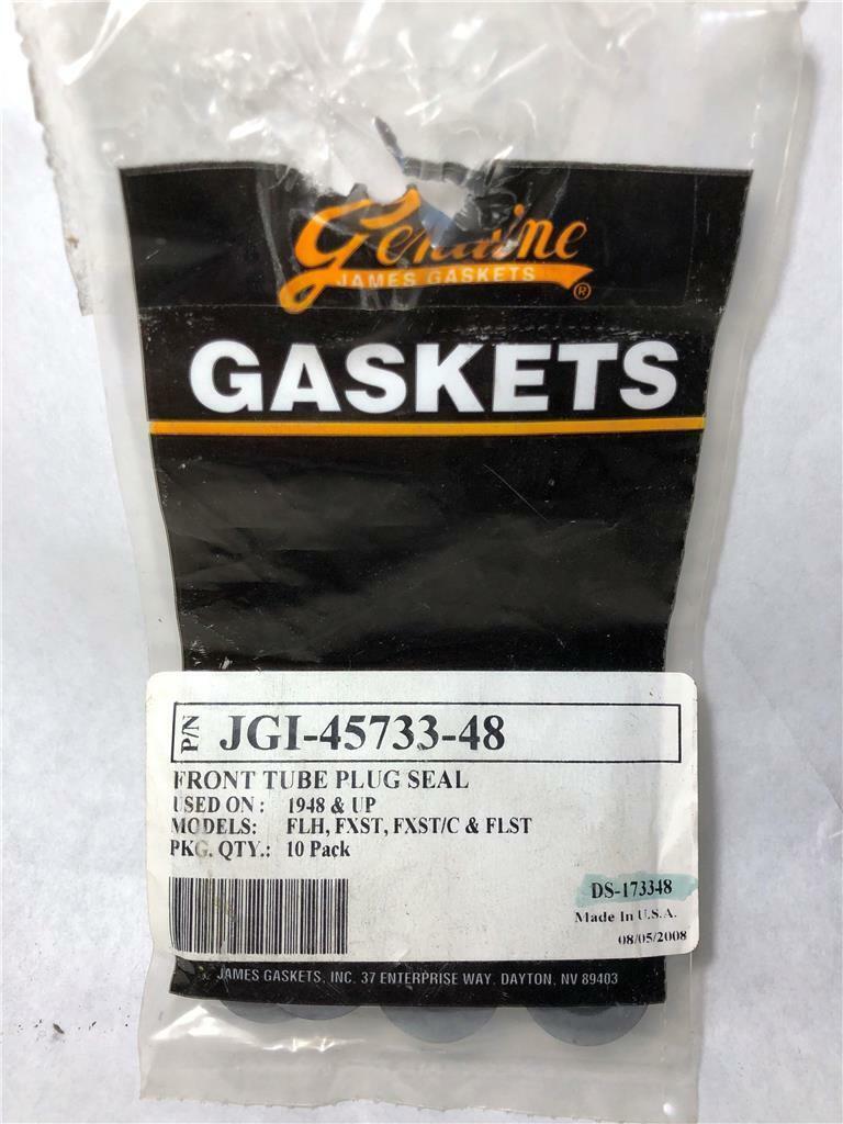 FXST James Gaskets Front Tube Plug Seal 10-Pack for Harley 1948 /& Up FXST//C FLST Models JGI-45733-48 FLH