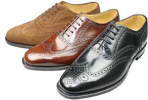 Loake-rahmengenaehte-Leder-Schuhe-202-amp-Holzspanner-Budapester-Goodyear-Welted