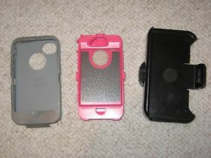 watch 3339c 76fbf Details about OtterBox Defender 6930 for iPhone 4 Pink, Grey Cover Rotating  Belt Clip Used