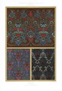 Antique-Print-CURTAINS-DECORATION-DESIGN-ORNAMENT-PLATE-11-Daly-Spiegel-1877