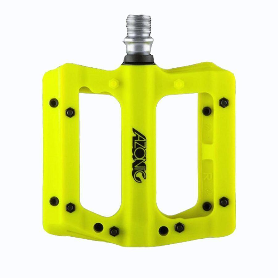 Couple pedals blaze fiber glass nylon fluorescent  yellow 3065-105 AZONIC flat  fitness retailer
