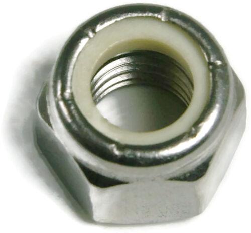 Stainless Steel Nylon Insert Lock Hex Nut UNF 1//4-28 Qty 100